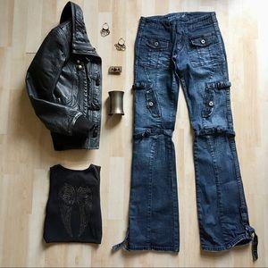 Parasuco Denim bondage style blue jeans size 26